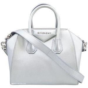 Givenchy Antigona Mini Silver Crossbody Bag